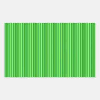 Linhas listradas verdes adesivo retangular