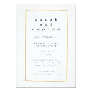 Linhas mínimas cartão do convite da festa de