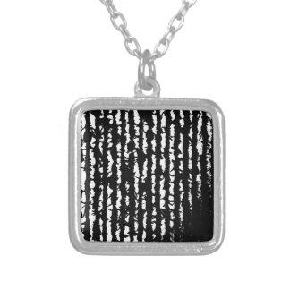 linhas pretas colar banhado a prata
