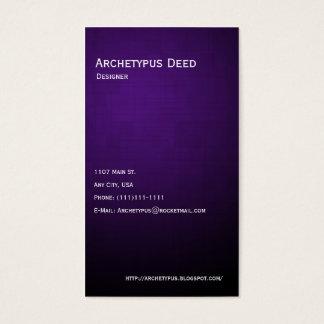 Linhas roxas e caixas violetas cartão de visitas