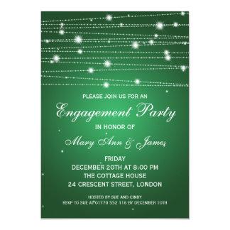 Linhas Sparkling da festa de noivado elegante Convite