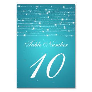 Linhas Sparkling turquesa do número da mesa