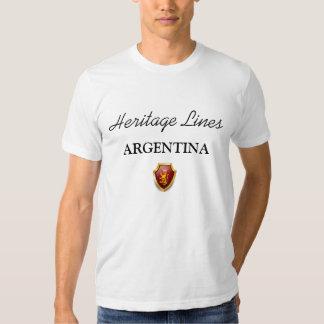 Linhas t-shirt ARGENTINA da herança sublime
