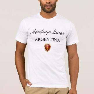 Linhas t-shirt ARGENTINA da herança sublime Camiseta