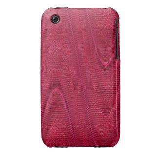 Linhas tecidas abstrato, capa iphone 3 cor-de-rosa