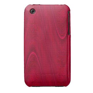 Linhas tecidas abstrato, capa iphone 3 do vermelho