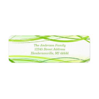 Linhas Verdes - etiqueta de endereço