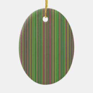 Linhas Verdes Ornamento De Cerâmica Oval