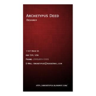 Linhas vermelhas e caixas modelos cartão de visita