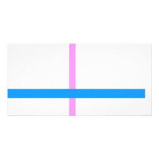 Linhas verticais e horizontais mínimas cartão com foto