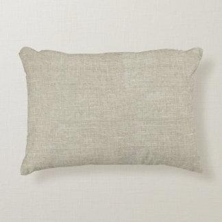 Linho bege rústico impresso almofada decorativa
