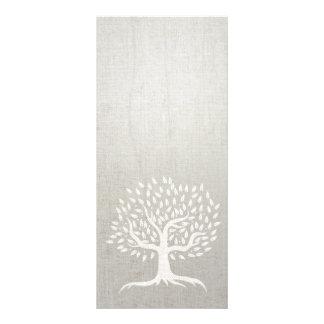 Linho elegante do zen da árvore do vintage da ioga 10.16 x 22.86cm panfleto