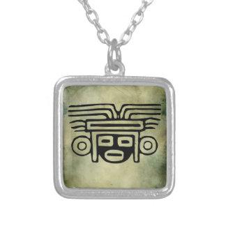 linocut tribal africano antigo dos símbolos bijuteria personalizada