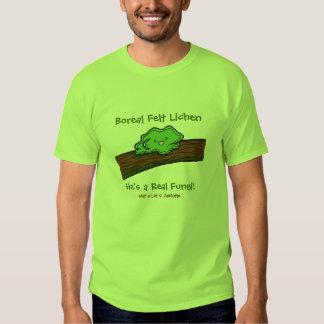 Líquene boreal de feltro: um t-shirt real dos