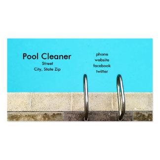 Líquido de limpeza da piscina cartões de visita