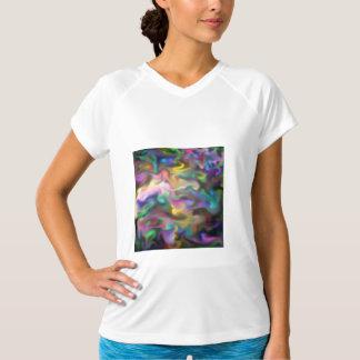 líquido do fascínio, multicolorido camiseta