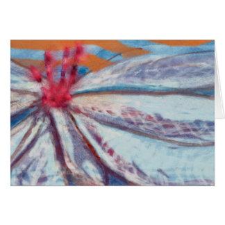 Lírio amigável da flor que pensa de você cartão