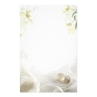 Lírio branco e anéis que Wedding artigos de Papelaria