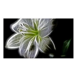 Lírio branco elétrico bonito cartão de visita