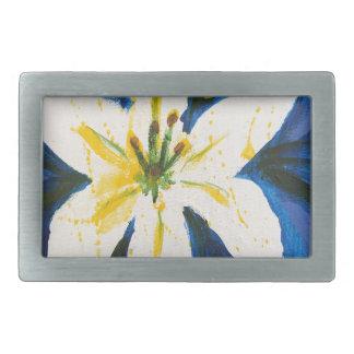 Lírio branco na coleção azul por Jane