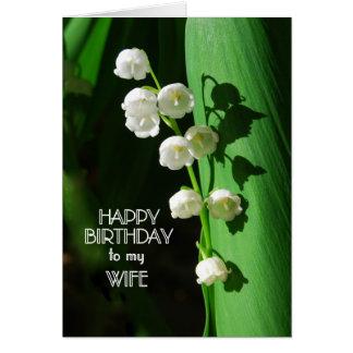 Lírio da esposa do feliz aniversario do vale cartão comemorativo