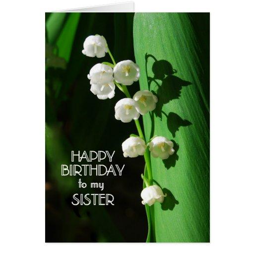 Lírio da irmã do feliz aniversario do vale cartões