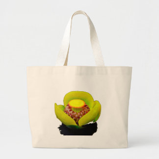Lírio de água amarela bolsa para compras
