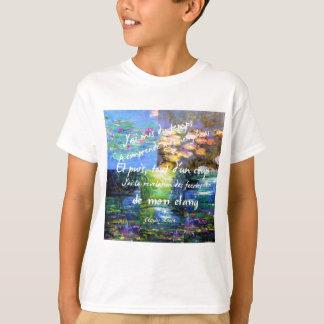 Lírio de água e fascínio de Monet Camiseta