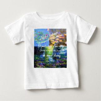Lírio de água e fascínio de Monet Camiseta Para Bebê