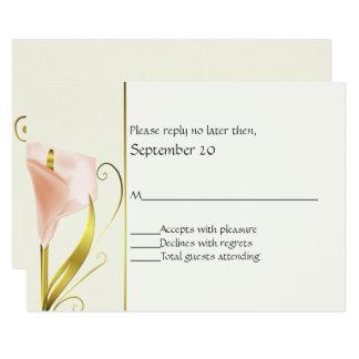 Lírio de Calla coral elegante que Wedding o cartão