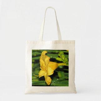 Lírio de dia amarelo bolsas para compras