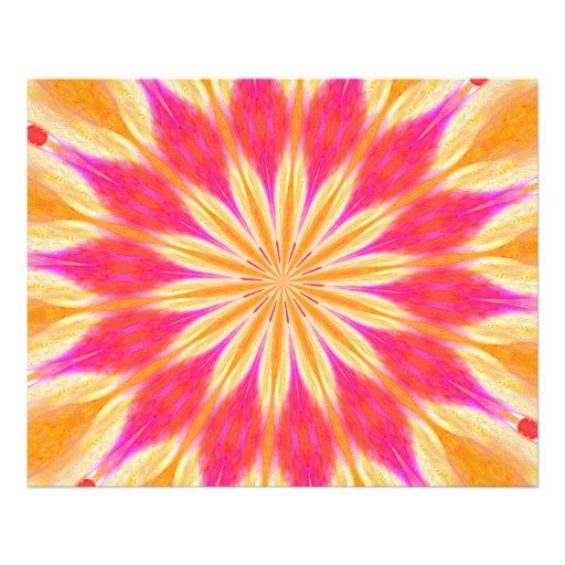 Lírio de limão cor-de-rosa impressão fotográficas