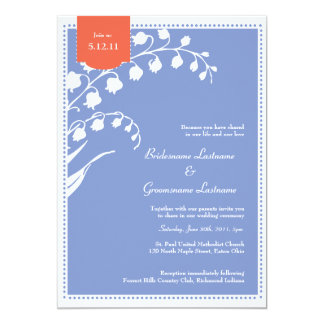 Lírio do casamento do vale convite 12.7 x 17.78cm