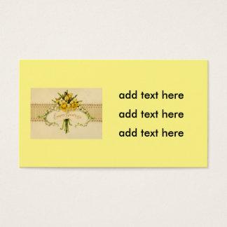 Lírio do Daffodil do narciso da páscoa do vale Cartão De Visitas
