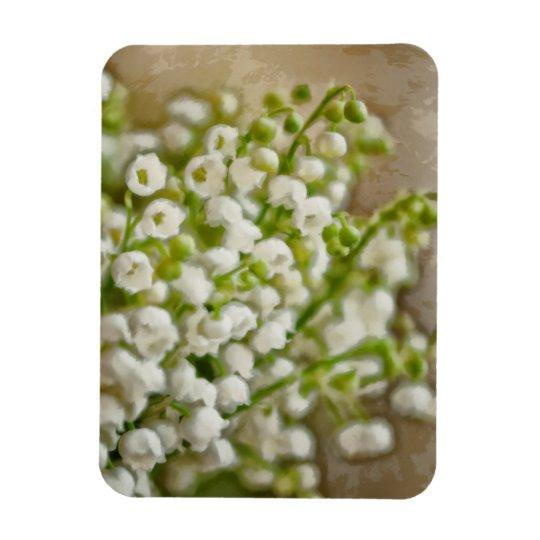 Lírio do esboço do buquê da flor do vale foto com ímã retangular