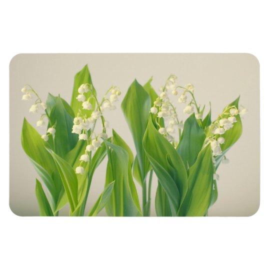 Lírio do grupo da flor do vale foto com ímã retangular