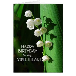 Lírio do querido do feliz aniversario do vale cartões