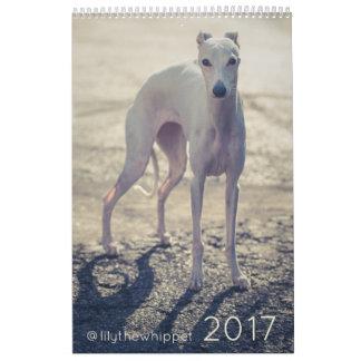 Lírio o calendário de Whippet 2017