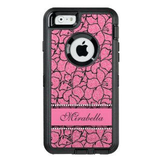 Lírios cor-de-rosa luxúrias com esboço preto,
