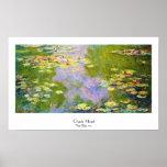 Lírios de água, Claude Monet 1919 Pôsteres