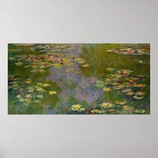 Lírios de água de Claude Monet Pôster