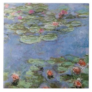Lírios de água do vintage azulejos