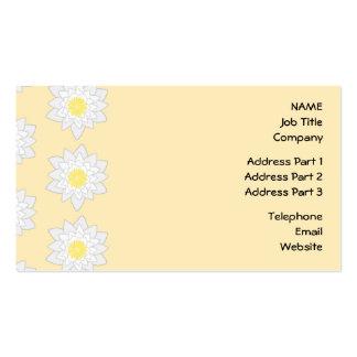 Lírios de água Pastel Cartão De Visita