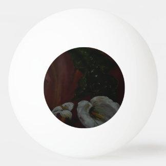 Lírios de Arum 1 bola de ténis de mesa