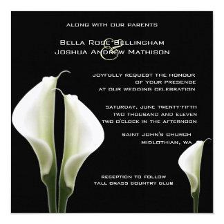 Lírios de Calla que Wedding o convite Convite Quadrado 13.35 X 13.35cm