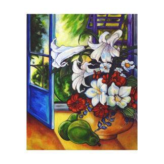Lírios & peras - impressão das canvas