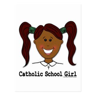 ~ Lisa da menina da escola católica Cartão Postal