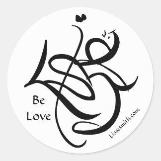Lisa j. seja etiqueta redonda do amor