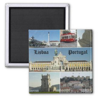 Lisbao, Lisboa, Portugal Ímã Quadrado