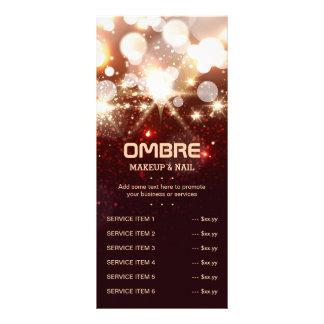 Lista à moda do menu dos Sparkles do brilho do 10.16 X 22.86cm Panfleto